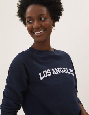 Pure Cotton Los Angeles Slogan Sweatshirt
