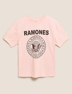 Pure Cotton Ramones Slogan T-Shirt