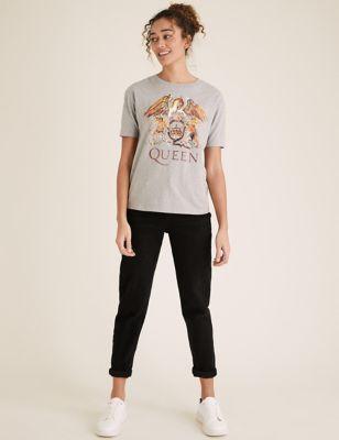 Queen Slogan Crew Neck T-Shirt