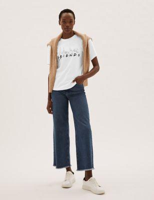 Pure Cotton Friends™ Slogan T-Shirt