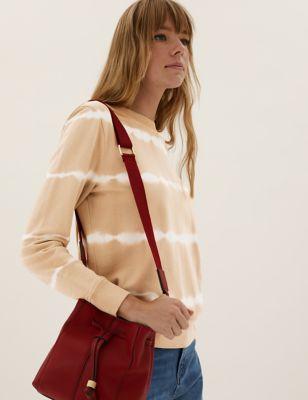 Pure Cotton Tie-Dye Crew Neck Sweatshirt