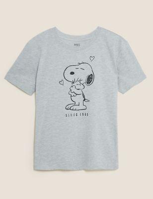Cotton Snoopy™ Crew Neck T-Shirt