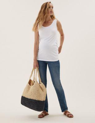Maternity Cotton Longline Vest Top