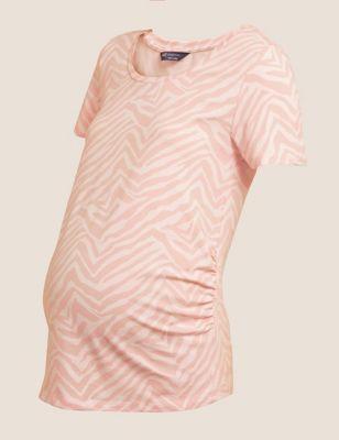 Maternity Cotton Printed T-Shirt