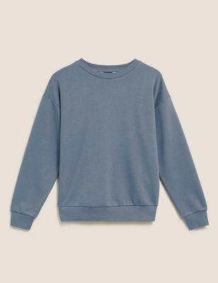 Cotton Long Sleeve Sweatshirt