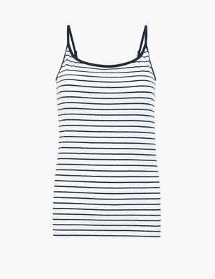 Cotton Striped Fitted Camisole Top