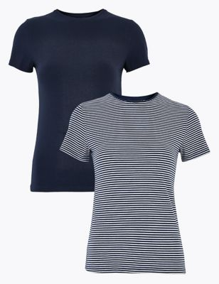 2 Pack Cotton Fitted T-Shirts