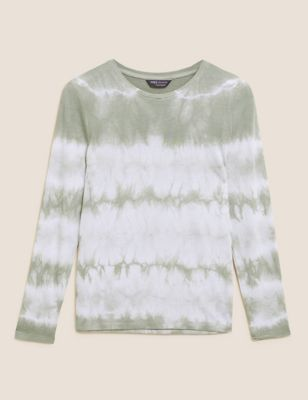 Tie Dye Relaxed Long Sleeve Top