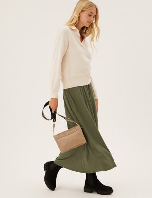 Jersey Maxi Skater Skirt with Tencel™