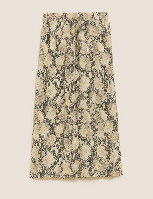 Animal Print Midi Straight Pencil Skirt