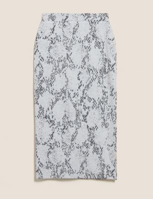 Animal Print Midi Pencil Skirt