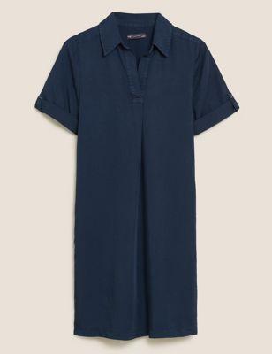Pure Tencel™ Knee Length Shift Dress