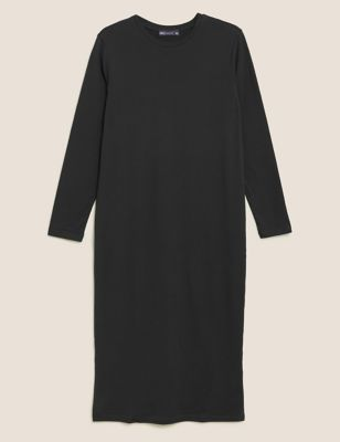 Pure Cotton Midi T-Shirt Dress