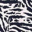 Animal Print Knee Length Shift Dress - whitemix