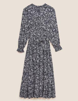 Floral Midi Waisted Dress