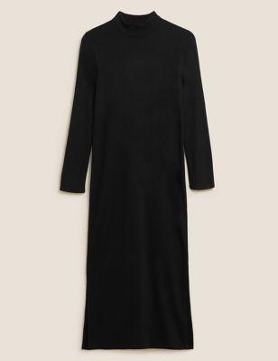 High Neck Midi Column Dress