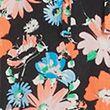 Floral Tie Neck Knee Length Tiered Dress - blackmix