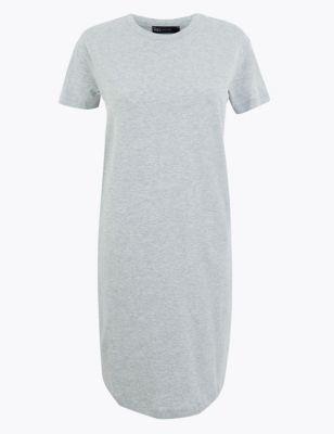 Pure Cotton Mini T-Shirt Dress