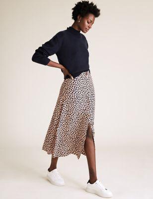 Ditsy Floral Midi A-Line Skirt