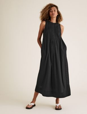 Pure Cotton Midaxi Relaxed Dress