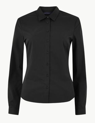 Cotton Fitted Long Sleeve Shirt