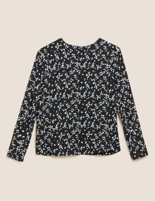 Ditsy Floral Long Sleeve Top