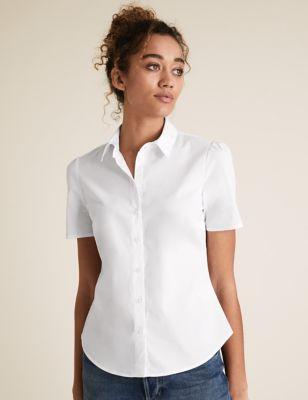 Cotton Puff Short Sleeve Shirt