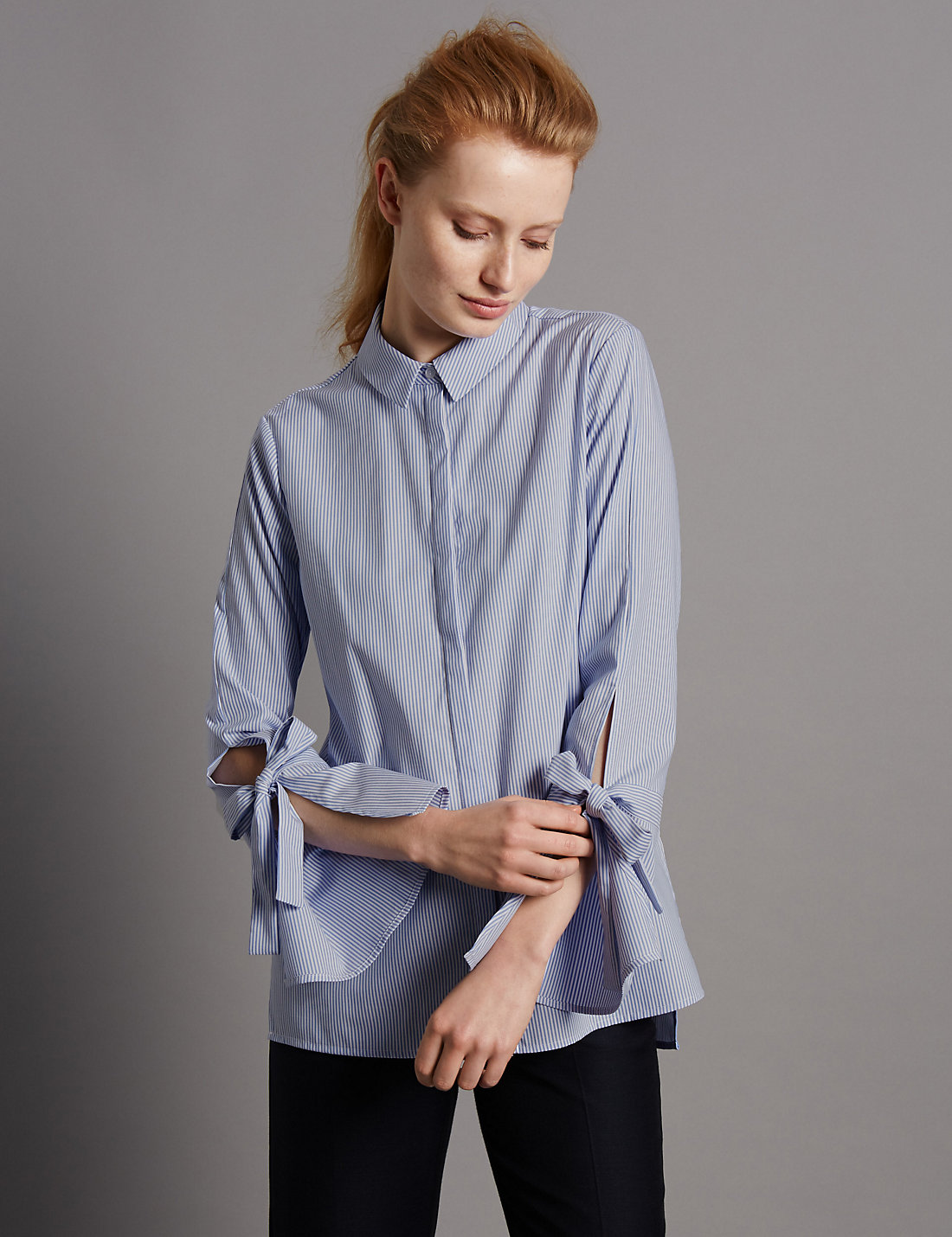 Cotton Striped Poplin shirt