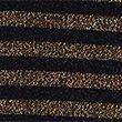 Sparkly Striped Regular Fit 3/4 Sleeve Top - blackmix
