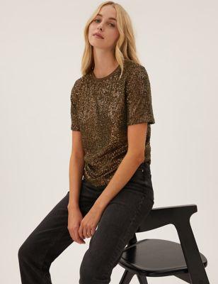Sequin Regular Fit T-Shirt