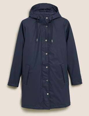 Rubber Funnel Neck Raincoat