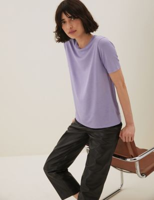 Tencel ™ Draped Short Sleeve T-Shirt