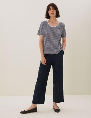 Pure Tencel™ Striped T-Shirt