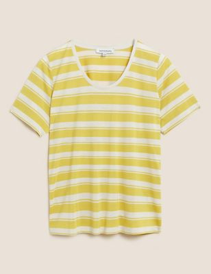 Pure Tencel™ Striped Round Neck T-Shirt