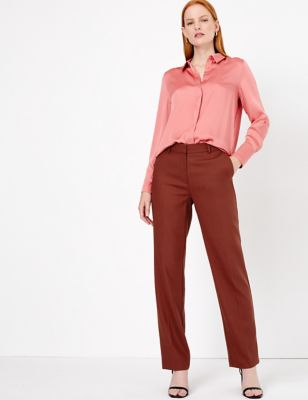 Per Una M/&S Stone Straight Leg Trouser NEW Size: 8 20 Medium or 18 Short 16