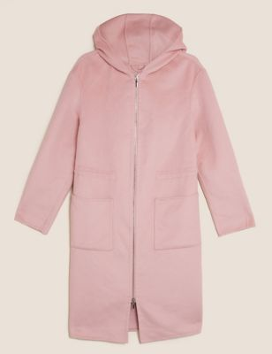 Wool Hooded Parka Coat