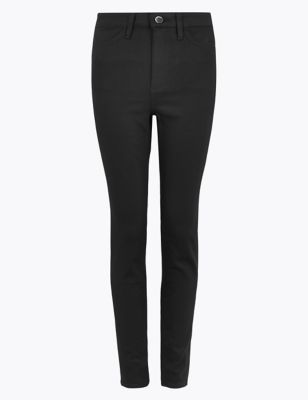 Stay New™ Skinny Button Front Jeans