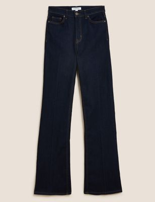 Luxury High Waisted Flared Jeans