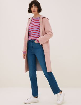 Luxury Straight Leg Ankle Grazer Jeans