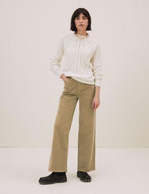 Corduroy Wide Leg Trousers
