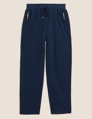 Jersey Drawstring Tapered Joggers with Wool
