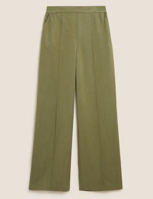Pure Tencel™ Wide Leg Trousers