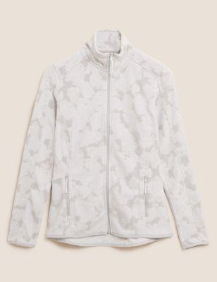 Zip Up Printed Fleece Jacket