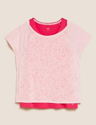 Scoop Neck Double Layer T-Shirt