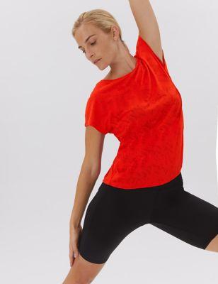 Textured Lightweight Short Sleeve Top