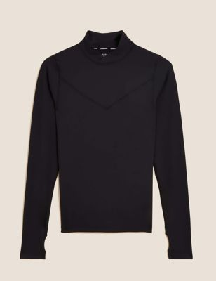 Funnel Neck Base Layer Long Sleeve Top