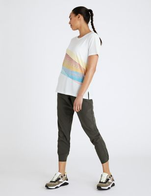 Slogan Scoop Neck Relaxed T-Shirt