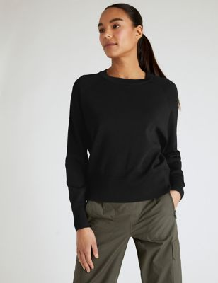 Knitted Crew Neck Long Sleeve Top