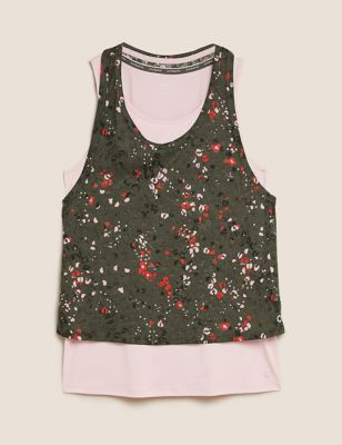 Printed Double Layer Vest Top