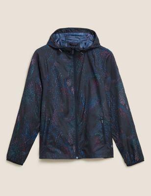 Lightweight Printed Hooded Running Jacket